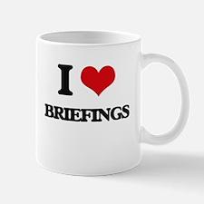 I Love Briefings Mugs