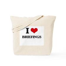 I Love Briefings Tote Bag