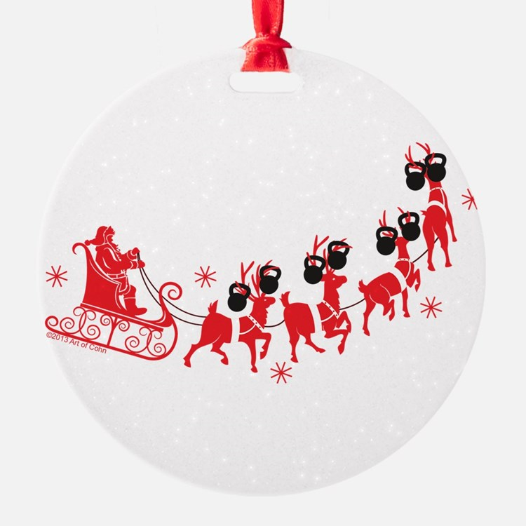 Reindeer Games Small Ornament