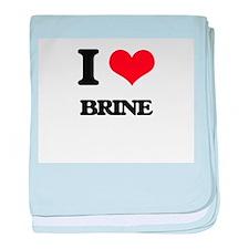 I Love Brine baby blanket