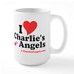 I Heart Charlie's Angels Large Mug