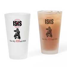 ISIS Kiss My Assault Rifle Drinking Glass