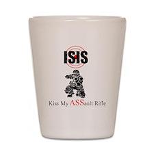ISIS Kiss My Assault Rifle Shot Glass
