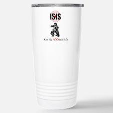 ISIS Kiss My Assault Rifle Travel Mug