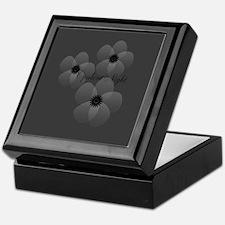 Chic Sheer Flower Grey Keepsake Box