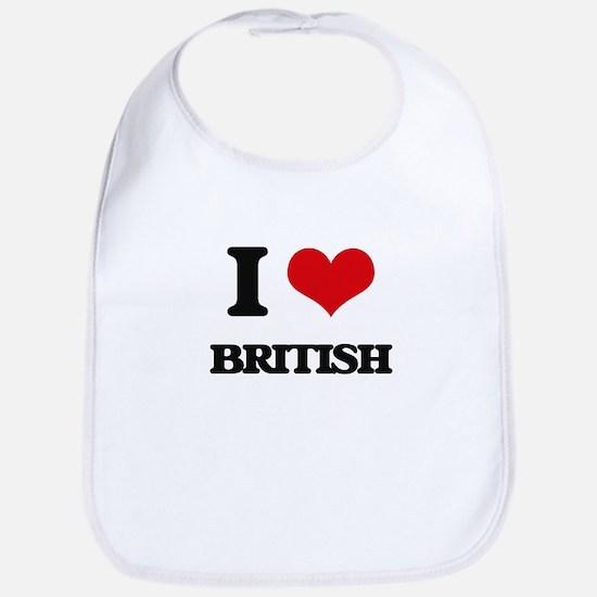 I Love British Bib