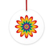 Rainbow Flower Ornament (Round)