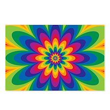 Rainbow Flower Postcards (Package of 8)
