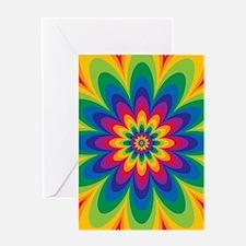 Rainbow Flower Greeting Cards