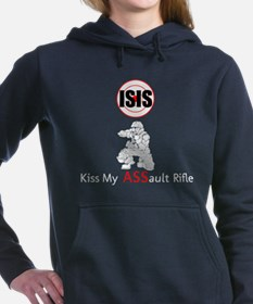 ISIS Kiss My Assault Rifle Women's Hooded Sweatshi