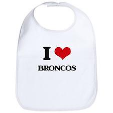 I Love Broncos Bib