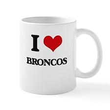I Love Broncos Mugs