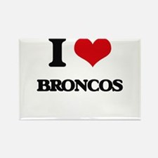 I Love Broncos Magnets