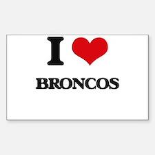 I Love Broncos Decal
