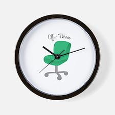 Office Throne Wall Clock