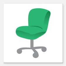"""Office Chair Square Car Magnet 3"""" x 3"""""""