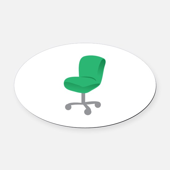 Office Chair Oval Car Magnet