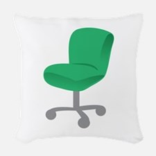 Office Chair Woven Throw Pillow