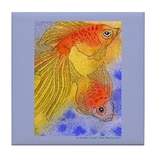 Goldfish and Sunlight Tile Coaster