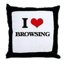 I Love Browsing Throw Pillow