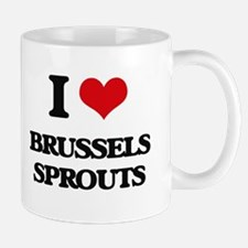 I Love Brussels Sprouts Mugs