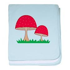 Gnome Mushroom baby blanket