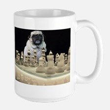Sexy Pug Playing Chess in Lingerie Mug