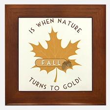 Nature Turns Gold Framed Tile
