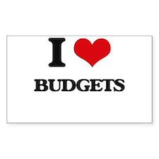 I Love Budgets Decal