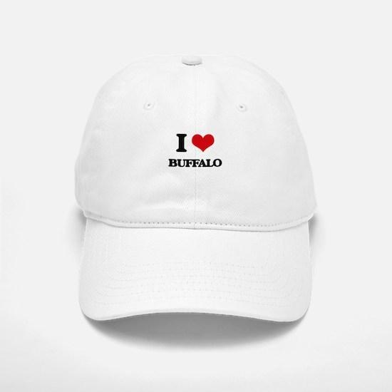 I Love Buffalo Baseball Baseball Cap