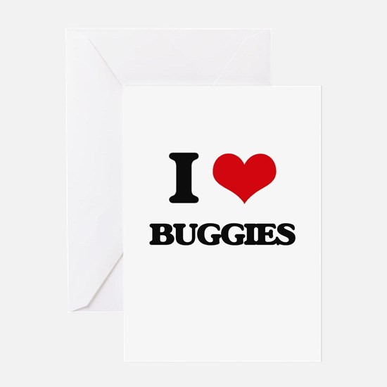 I Love Buggies Greeting Cards