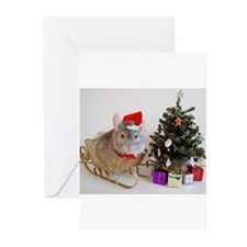 Unique Holiday chinchillas Greeting Cards (Pk of 10)
