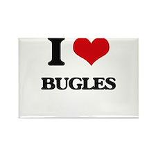 I Love Bugles Magnets