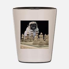 Sexy Pug Playing Chess Shot Glass
