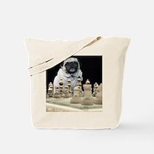 Sexy Pug Playing Chess Tote Bag