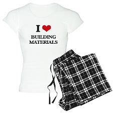 I Love Building Materials Pajamas