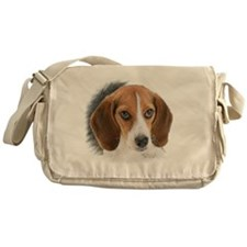 Beagle Close Up Messenger Bag