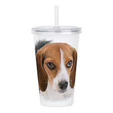 Beagle Close Up Acrylic Double-wall Tumbler