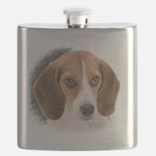 Beagle Close Up Flask