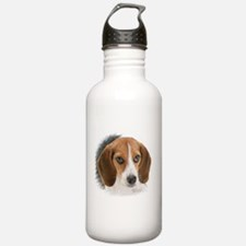Beagle Close Up Water Bottle