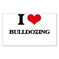 I Love Bulldozing Decal