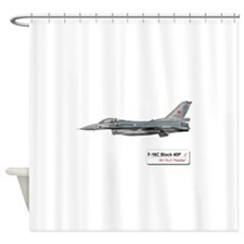 f-16_filo_181_block_40p.png Shower Curtain