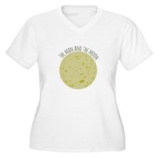 Man And Moon Plus Size T-Shirt