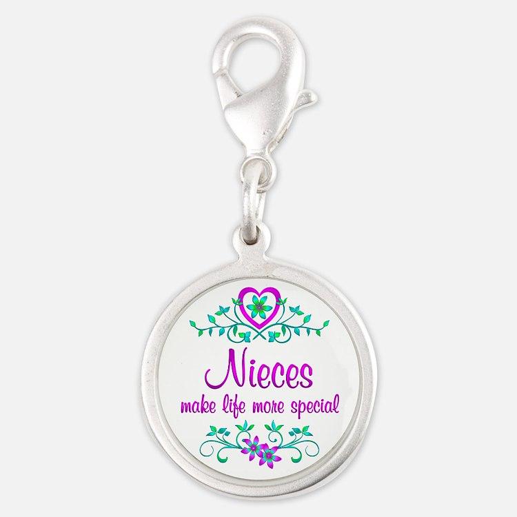 Special Niece Silver Round Charm