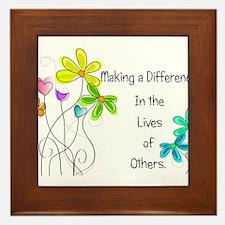 Caregiver Quote Framed Tile