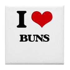 I Love Buns Tile Coaster