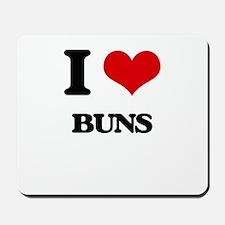 I Love Buns Mousepad