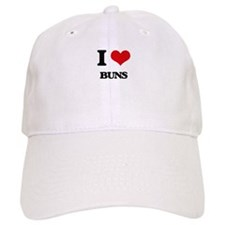 I Love Buns Baseball Cap