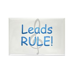 Leads Rule! Rectangle Magnet