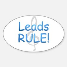 Leads Rule! Oval Decal